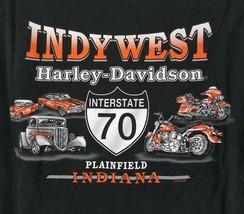 Harley Davidson Plainfield Indiana I-70 Black S/S Men's Motorcycle T Shirt XXL image 1