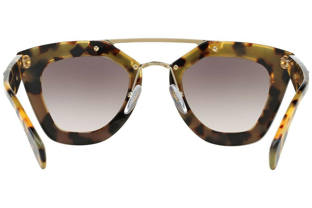 PRADA ORNATE SAFFIANO LEATHE PR14SS VHC4K0 Havana Amaranth Pink Grey Sunglasses image 4