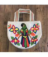 Authentic 100% Wayuu Mochila colombian Tapestry green parrot  Beach Tote... - $130.00