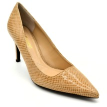 J Renee Womens Alipha Leather Embossed Snake Skin Pumps US Size 10.5M Tan New  - $28.60