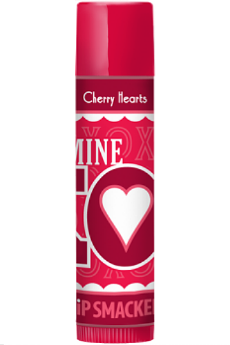 Primary image for Lip Smacker CHERRY HEARTS Lip Gloss Balm Stick Love Kisses Hearts Valentines