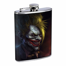 Yin Yang D10 Flask 8oz Stainless Steel Hip Drinking Whiskey Rum Scotch