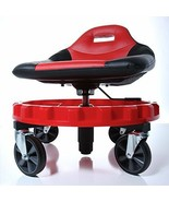 Mechanic Creeper Seat Rolling Work Stool Tools Tray Chair Auto Shop Gear - $217.83