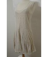 FREE PEOPLE Nude Illusion Cream Sleeveless Lace Stretch Dress L - $134.99