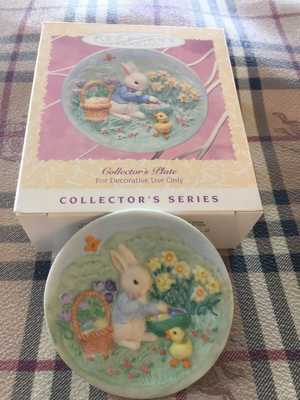 Hallmark 1996 Collector's Plate - Easter Collection Ornament - New In Box!