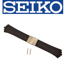 Genuine SEIKO Arctura SNL013 SKA207 Black Urethane Watch band Strap 4KD2ZB - $40.95
