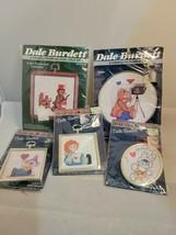 Vintage Lot of 5 Mini Cross Stitch Kits Dale Burdett Picture Sew Simple 1987 - $15.88