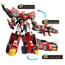 Miniforce Tri Hawk King Action Figure Super Dino Series Transforming Robot Toy image 3