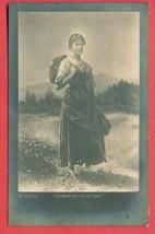 M150545 / Switzerland Art Walter von Vigier - WOMAN gather Fragaria vesca - $9.00