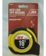 Ace Auto Lock Tape Measure 25ft - push button rewind - 2448546 - $13.81