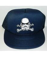 Star Wars Storm Trooper Helmet Cross Bones Patch on a Black Baseball Cap... - $14.50