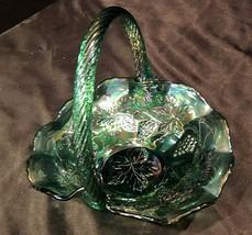 Carnival Glass Grape Pattern Basket  Fenton AA20-7601 Vintage    - $225.95