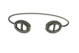 1.53 Ct Natural Diamond Thin open Cuff Bangle 925 Solid Sterling Silver ... - $742.50