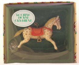 Enesco Designed Giftware ~ Rocking Horse Ornament - Dated 1983 - $7.95