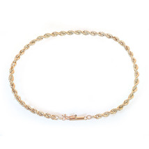 14K Yellow Gold Rope Chain Bracelet - $137.61
