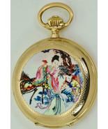 Rare Antique Chinese Qing Dynasty 14k gold and Erotic enamel pocket watc... - $6,900.00