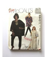 Mccall's 6843 Easy Sewing Pattern Misses Caftan Pants XLG-XXL - $15.83