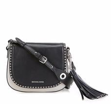 NWT MICHAEL Michael Kors Brooklyn Rivet Tassel Leather Saddle Crossbody Bag - $228.00