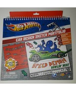 Hot Wheels Car Design Sketch Portfolio ~ includes 98 Stencils & 44 Stickers - $39.58