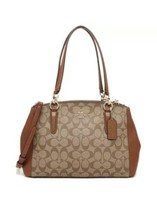 New Coach F58291 Signature Small Christie Carryall Handbag Satchel Khaki Purse - $152.36