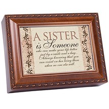 Cottage Garden Sister Is Someone Woodgrain Music Box/Jewelry Box Plays W... - $36.77
