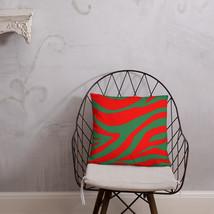 Christmas Zebra Striped Throw Pillow - $29.99+