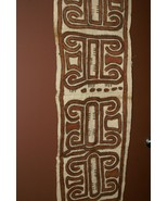 Maisin Tapa Kapa Hand Painted Bark Cloth Abstract Tribal Motifs New Guin... - $142.49