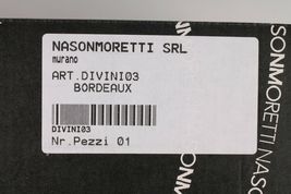 Nason Moretti Divini Bordeaux Vin Calice Murano Verre DIVINI03 Neuf en Boîte image 7