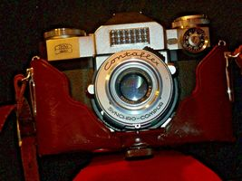 Zeiss Ikon Contaflex Super Camera with hard leather Case AA-192012 Vintage image 4