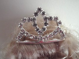 DOLLS SMALL TIARA fixed on comb SIZE 35 X 25 mm - $6.81
