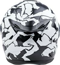 XS Fly Racing Sentinel Ambush Motorcycle Helmet Camo/Black/White DOT & ECE  image 3