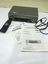 Sanyo 4-Head VCR VWM-375 with Remote and Original Box - Works Great - $59.35