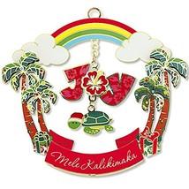 Island Heritage Hawaiian Joyful Honu Turtle Metal Die Cut Christmas Orna... - $19.79