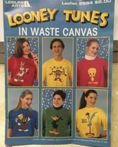 Looney Tunes in Waste Canvas Cross Stitch Patterns 1994 Leisure Arts 2564  - $7.83