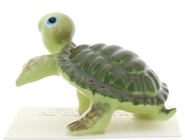 "Hagen-Renaker Miniature Ceramic Turtle Figurine Cartoon Turtle Running ""Smiley"""