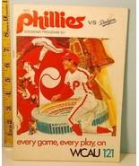1971 Philadelphia Phillies Baseball Scorecard vs Los Angeles Dodgers - G... - $4.94
