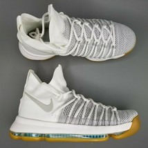 Nike KD 9 Elite Ivory Basketball Shoes Mens Size Athletic Cream White Gray - $149.99