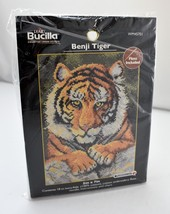 "Plaid Bucilla Benji Tiger Counted Cross Stitch Kit - 5"" x 7"" NEW Sealed ... - $7.55"