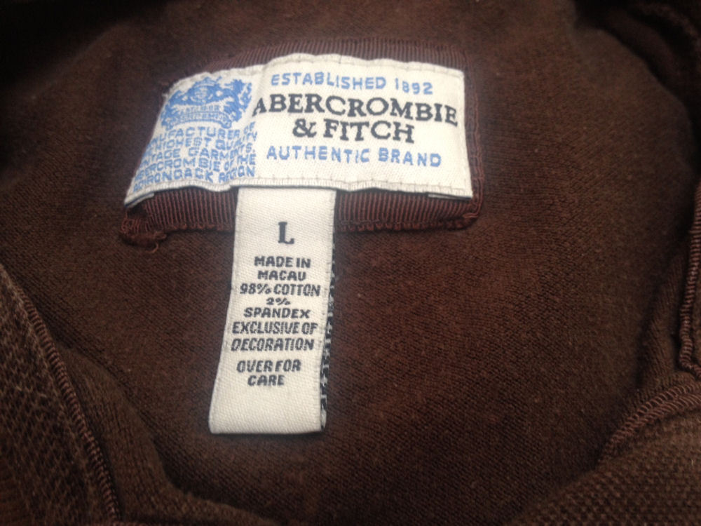 Abercrombie & Fitch Girls L Polo Shirt Brown Top School image 5