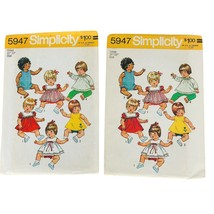 """Simplicity Pattern 5947 Doll Clothes SIze Small 12""""-13"""" and Large 18""""-20"""" UNCUT - $9.85"""
