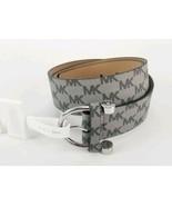 $58 Micheal Kors Belt Grey MK Logo Print Silver Buckle Small New - $39.59