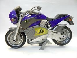 "Vintage Mattel Max Steel MX-9 N-Tek Purple Motorcycle Noise Lights Sound 12"" L - $24.74"