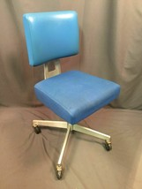 General FireProofing Co Vintage Good Form Blue Aluminum Office Chair Mad... - $395.99