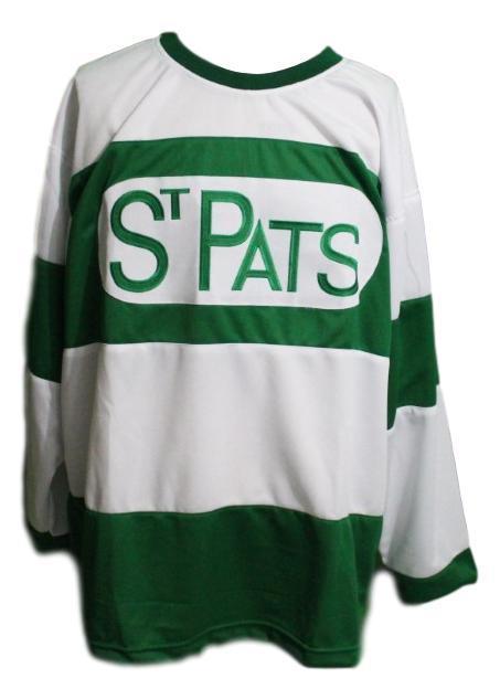 Custom name   toronto st patricks retro hockey jersey white   1