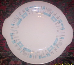 MID CENTURY MODERN-- ROYAL CHINA BLUE HEAVEN PLATE - $12.45