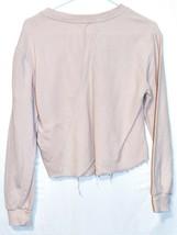 Garage Clothing Women's Pink Reverse Diagonal Knit Raw Hem Shirt Size S image 2