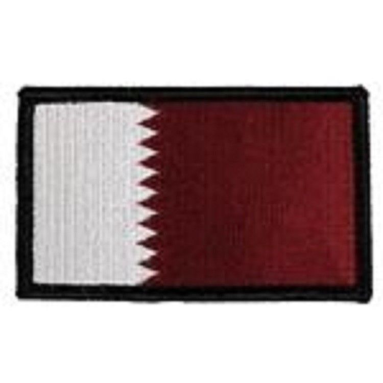 Primary image for QATAR FLAG 2 X 3  EMBROIDERED PATCH WITH HOOK LOOP