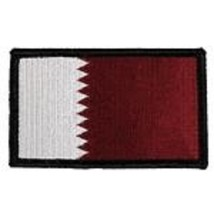 Qatar Flag 2 X 3 Embroidered Patch With Hook Loop - $17.14