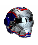 Masei 610 War Trooper Matt Blue Motorcycle Helmet