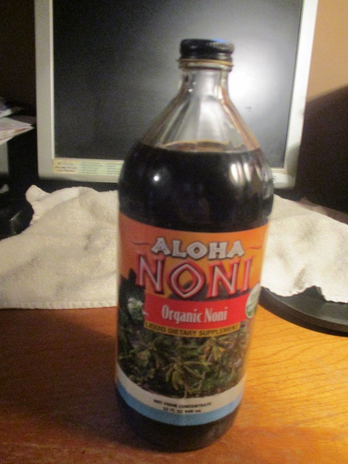 Noni Concentrate 650 Mg: CERTIFIED ALOHA ORGANIC NONI....NOT FROM CONCENTRATE...32